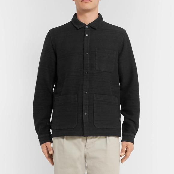 FOLK x MR. PORTER textured cotton-jersey jacket